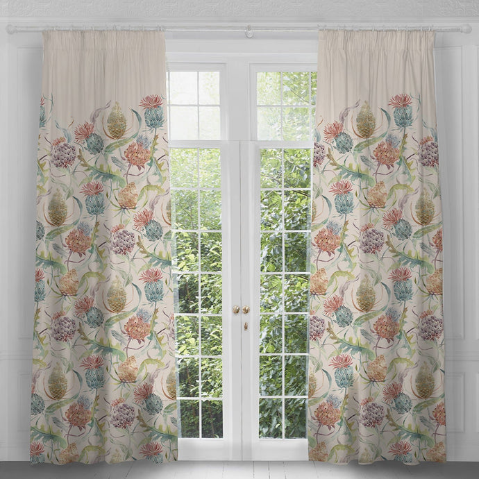 Extra Long 3m Drop Curtains with Meadwell Pomegranate Design