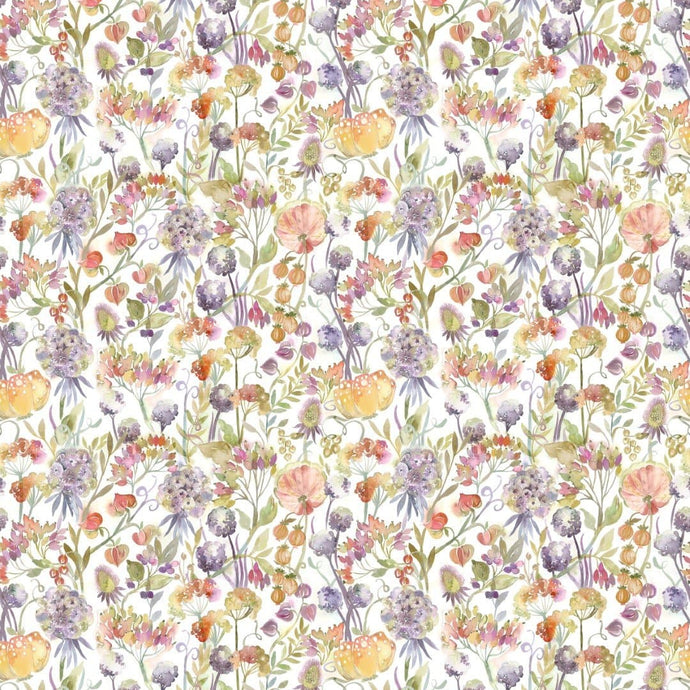 Voyage Autumn Floral Cream - Fabric Remnants