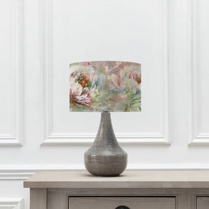 Roseum Coral Shade with Agri Table Lamp