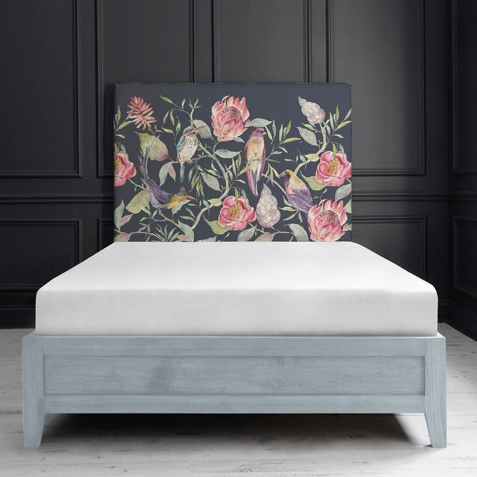 Bronn Blue Grey Double Bed Frame in Havana Navy