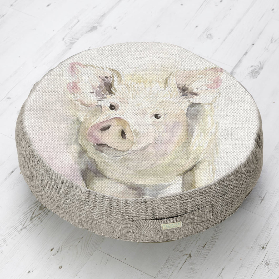 Large Circular Floor Cushion with Mr Piggy design.  (4449975763002)