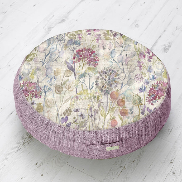 Medium Floor Cushion with Hedgerow Design (4467918438458)