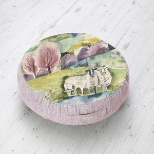 Medium Floor Cushion with Buttermere Design (4467917881402)