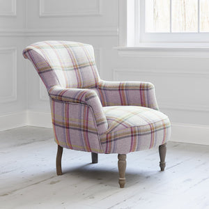 Camilla chair with Tavistock Loganberry fabric