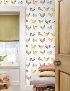 Chook Chook Linen - Wallpaper