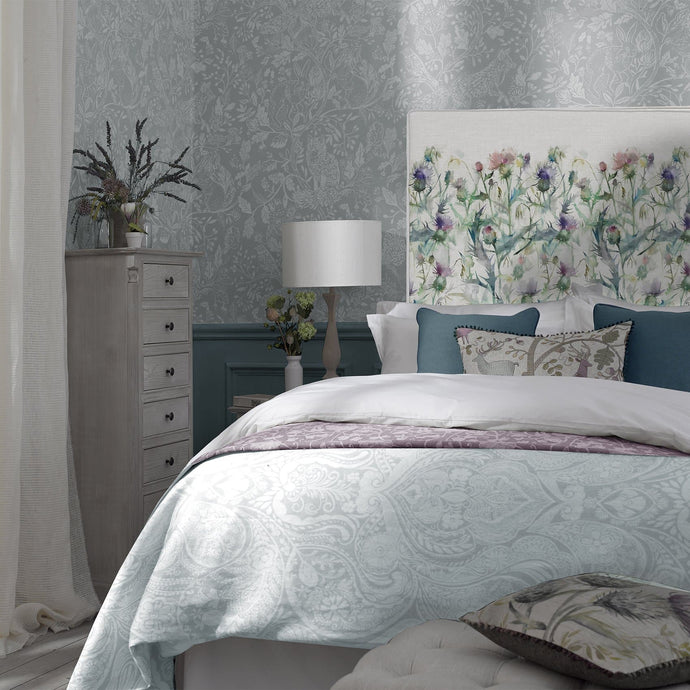Grace Headboard with Cirsiun Damson Design (4470603382842)