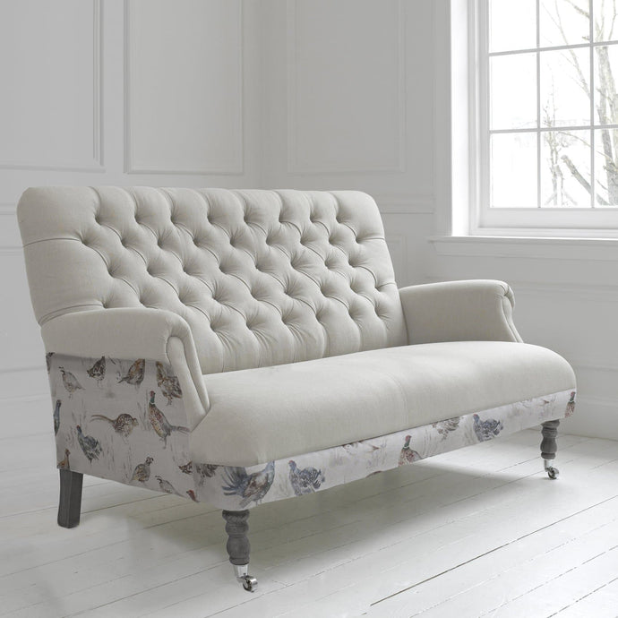 Cornelius Three Seater Soft in Game Bird Design