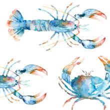 Load image into Gallery viewer, Crustaceans Cobalt Oil Cloth