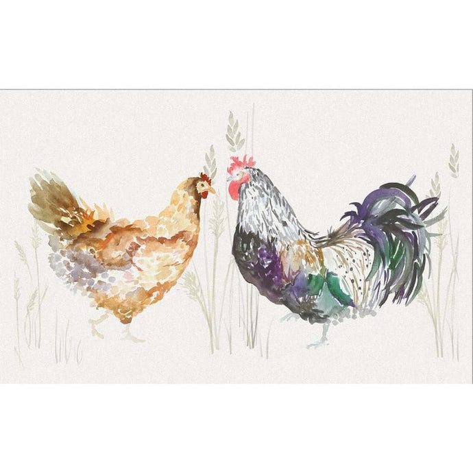 Voyage Hen & Cock - Set Of 6 - Cushion Panels