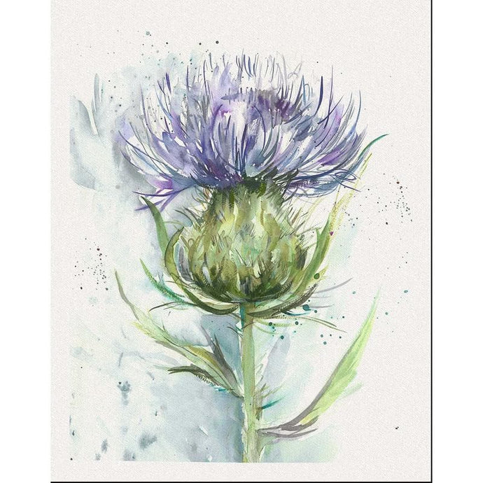 Voyage Cawdor Thistle Bluebell - Set Of 8 - Cushion Panel