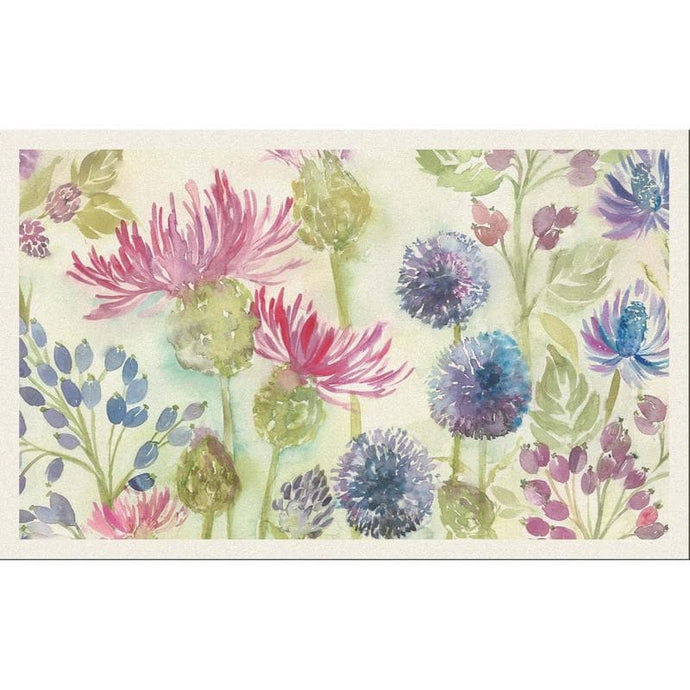 Voyage Thistles White - Set Of 8 - Cushion Panel