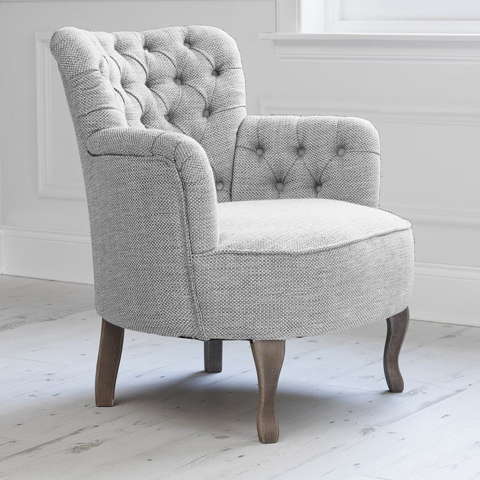 Dora Chair in Meridian Charcoal Fabric