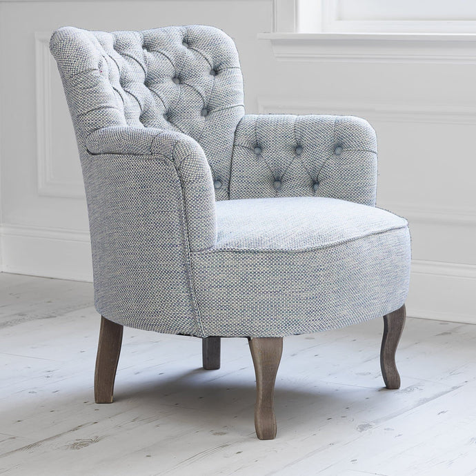 Dora Chair in Meridian Sea Thistle Fabric