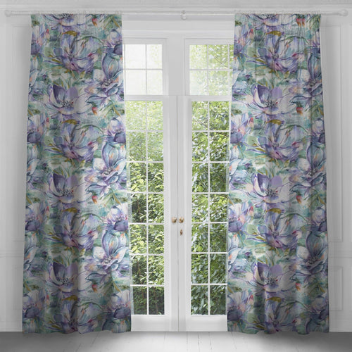 Dusky Blooms Extra Long Linen Curtains (4465241915450)