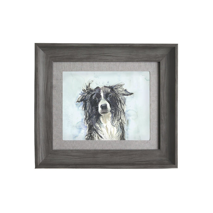 Collie Stone Framed Print 33.6x38.6