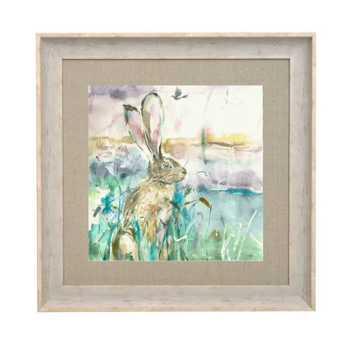 Morning Hare 68x68 Birch Framed Print (4405752561722)