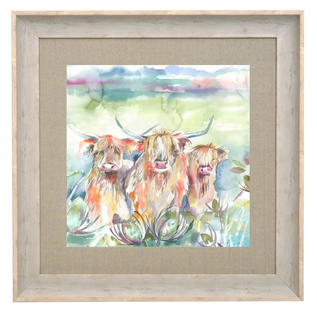Heilan Herd 68x68cm Framed Print in Birch (4454746947642)