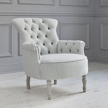 Load image into Gallery viewer, Elsie Tivoli Mineral Linen Chair