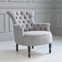 Load image into Gallery viewer, Elsie Tivoli Steel Linen Chair (4395188879418)