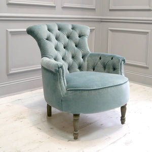 Elsie Velvet Chair in Lapis Lake