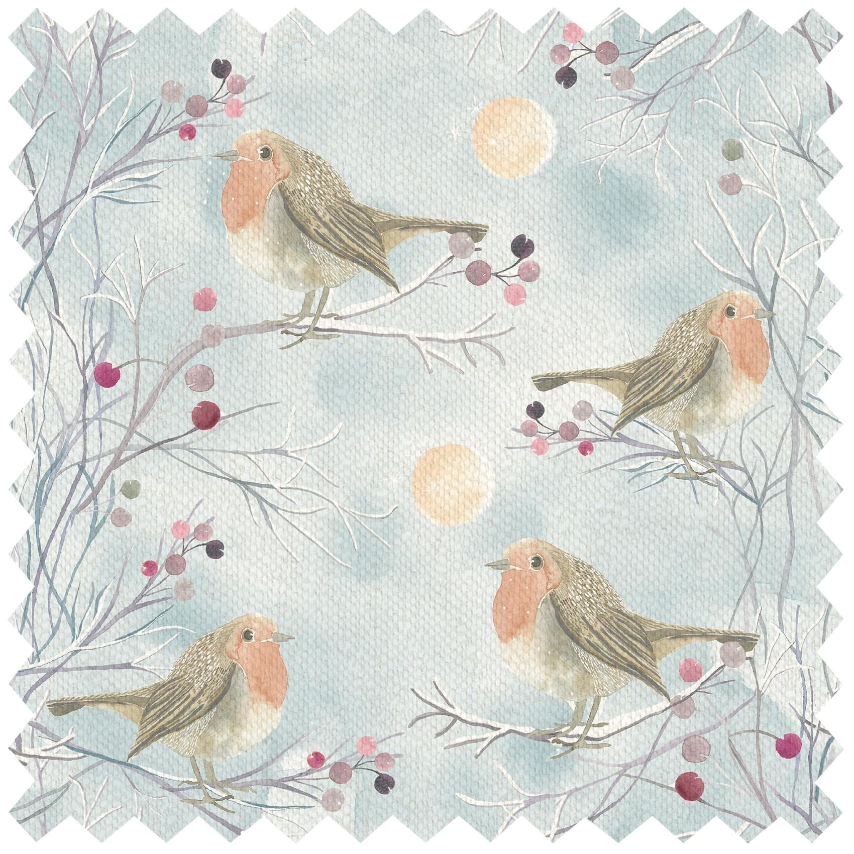 Festive Robin Frost - Fabric by the Metre (6212877222086)