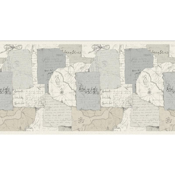 Explorer Antique - Lampshade/Cushion Panel By The Metre