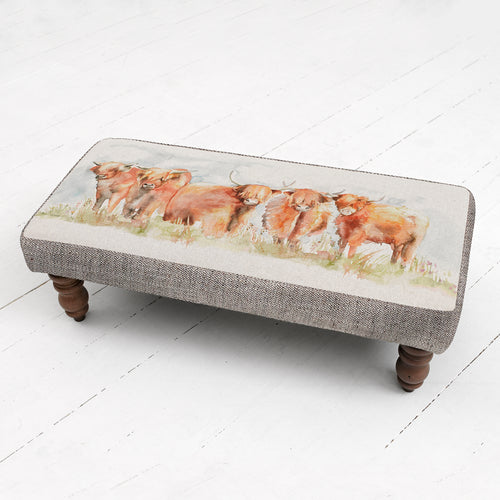 Highland Cattle Mya Footstool (4495400075322)