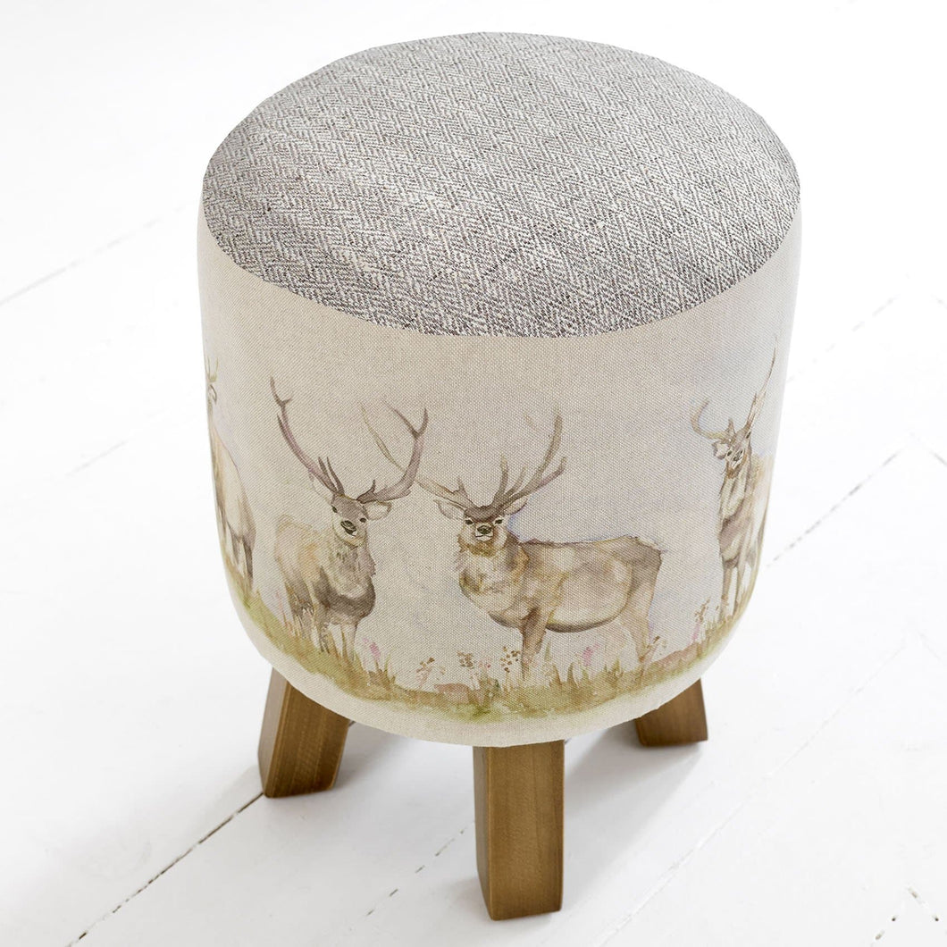 Moorland Stag Monty Footstool (4400925343802)