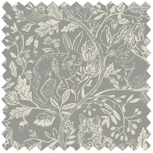 Cademuir Silver - Black Out Fabric by the Metre