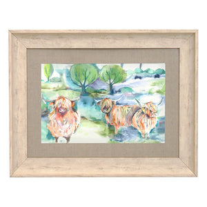 Heilan Herd Birch Framed Print 90x70 (4572773023802)