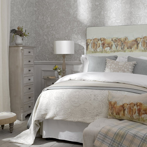 Grace Headboard with Highland Cattle Design (4470602039354)