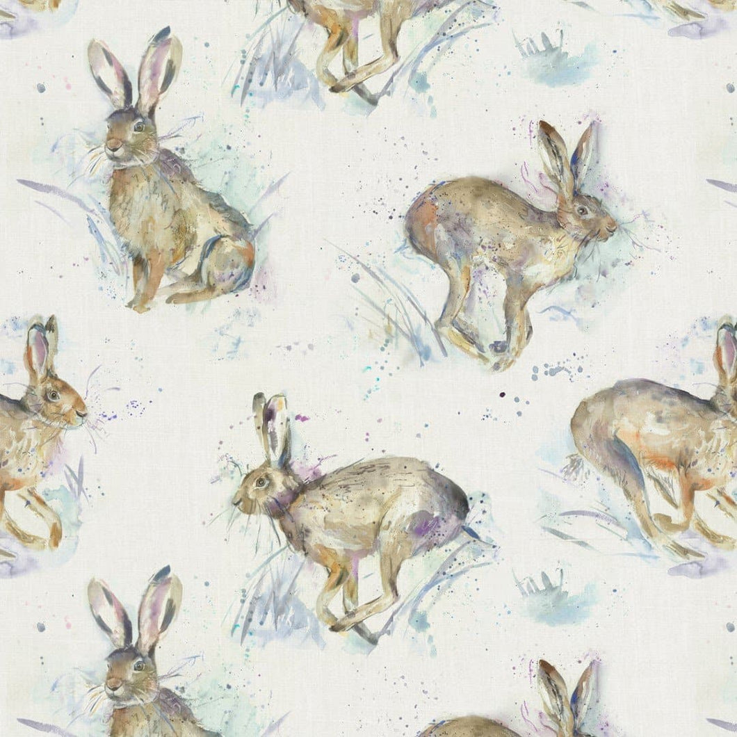 Voyage Hurtling Hares Fabric (4559977644090)