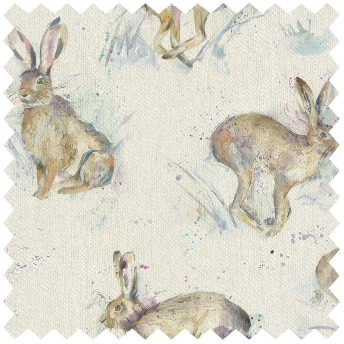 Hurtling Hares - Fabric by the Metre