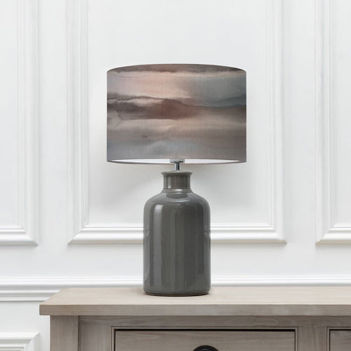 Fjord Cloud 40cm Lampshade with Elspeth Grey Ceramic Table Lamp (6652536553670)