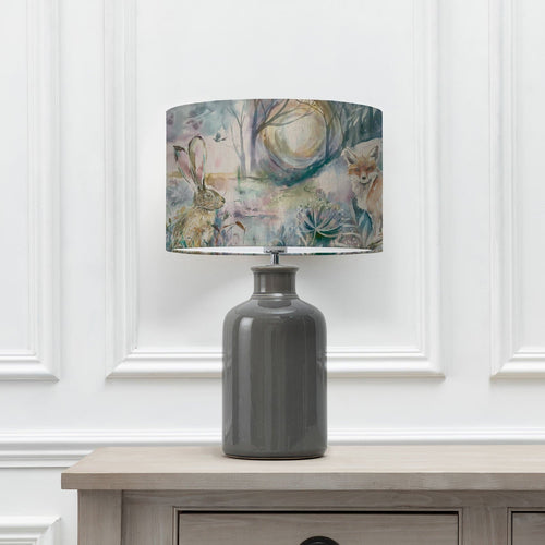 Fox and Hare Shade with Elspeth Grey Table Lamp (6652536783046)