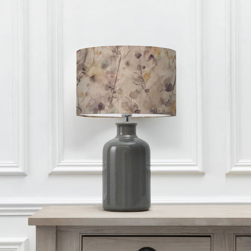 Sola Mulberry 40cm Lampshade with Elspeth Grey Ceramic Table Lamp (6652536291526)