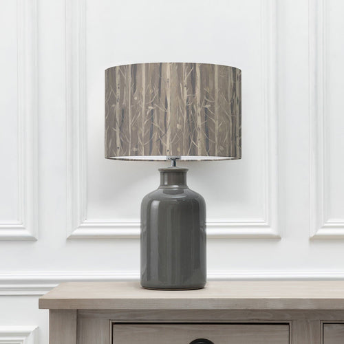 Synnova Lunar 40cm Lampshade with Elspeth Grey Ceramic Table Lamp (6652536225990)