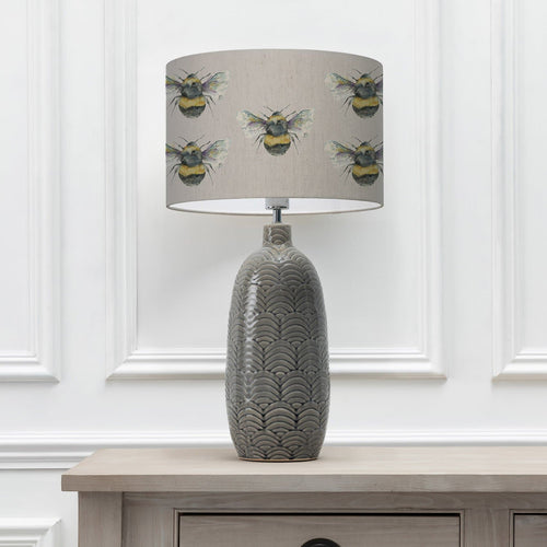 Bee Silver 40cm Lampshade with Jadis Grey Ceramic Table Lamp (6655373672646)
