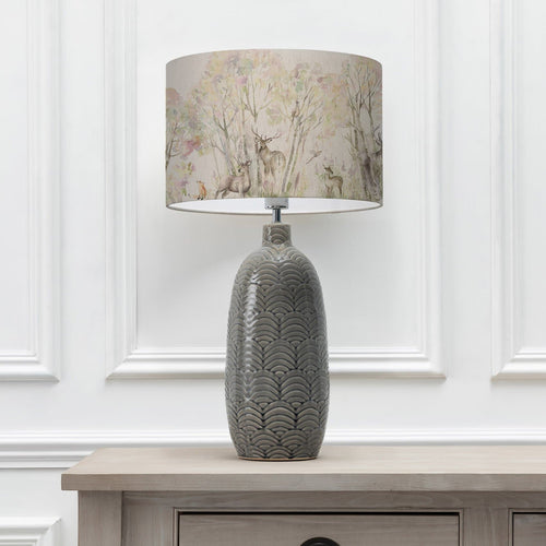 Enchanted Forest 40cm Lampshade with Jadis Grey Ceramic Table Lamp (6655373574342)
