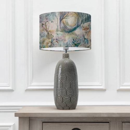 Fox and Hare 40cm Lampshade with Jadis Grey Ceramic Table Lamp (6655373902022)