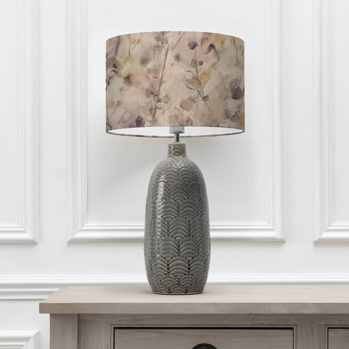 Sola Mulberry 40cm Lampshade with Jadis Grey Ceramic Table Lamp  (6655372951750)