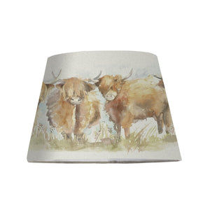 Jill 30cm Lampshade with Highland Cattle Water Colour Design (4459793907770)