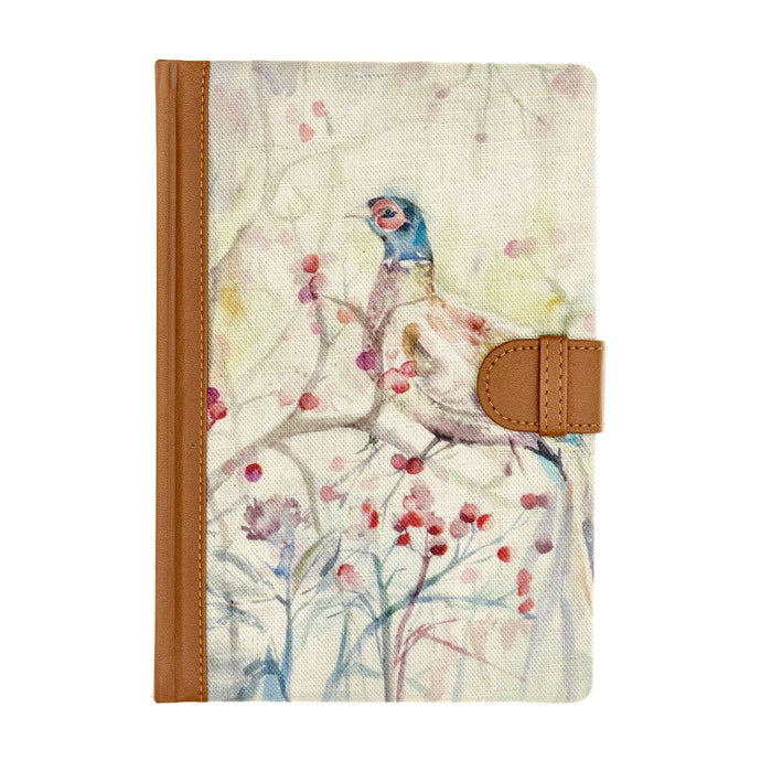 Pheasant Design Floral Notebook