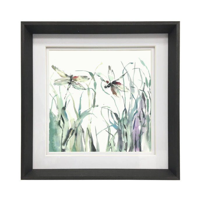 Nightingale Ebony Framed Print 47x47