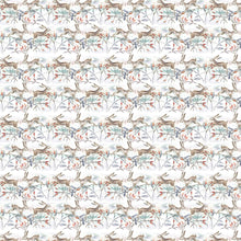 Load image into Gallery viewer, Christmas Hares Linen - Oil Cloth (4477927030842)