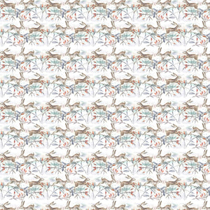 Christmas Hares Linen - Oil Cloth (4477927030842)