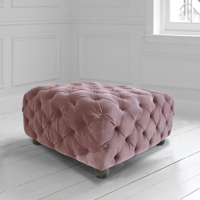 Praim Footstool in Zircon Chiffon