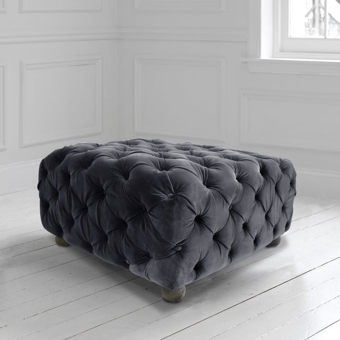 Praim Footstool in Zircon Twilight
