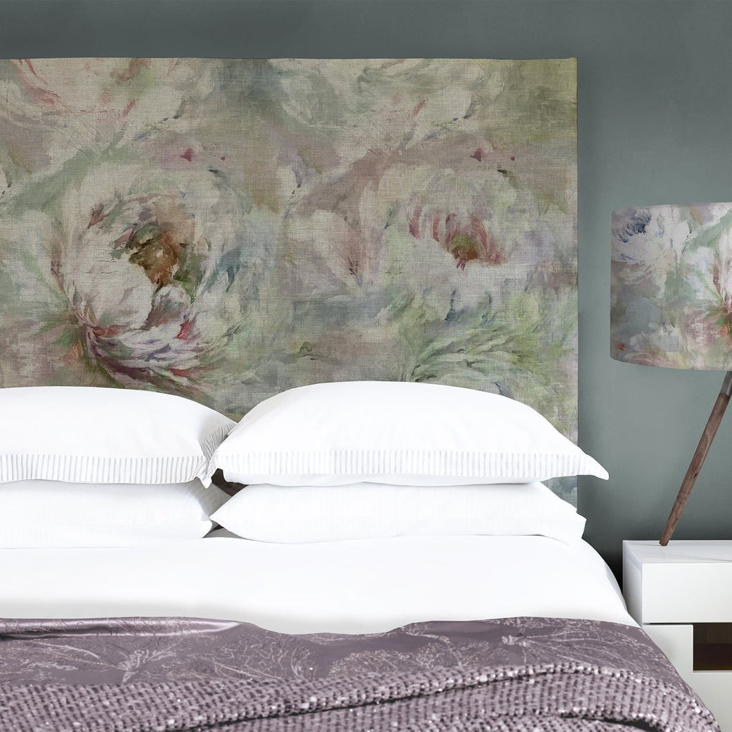 Grace Headboard with Roseum Coral Design (4471189274682)