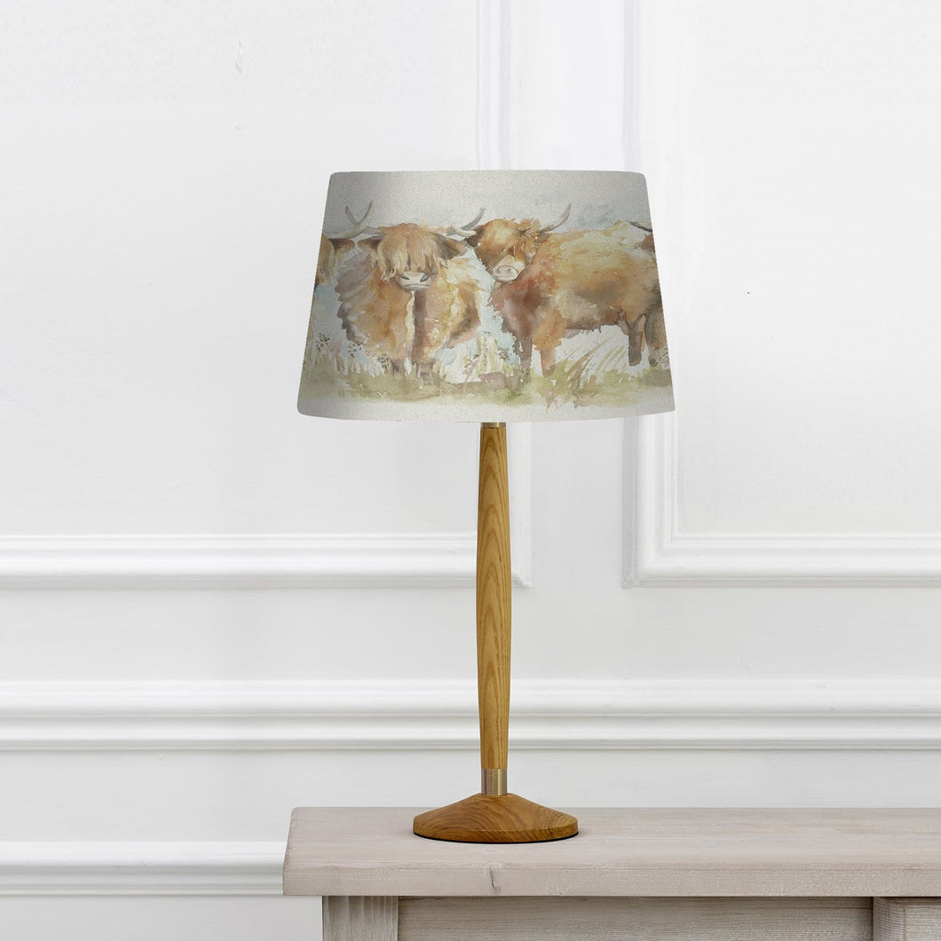 Solensis Small Table Lamp With Highland Cattle Jill Shade (4573906141242)